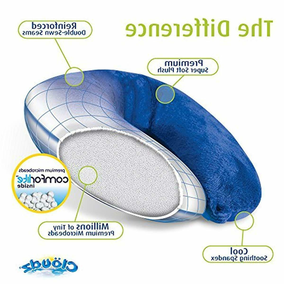 Cloudz Microbead Neck Pillow - Grey