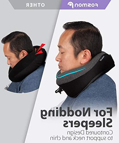 Fosmon Soft and Foam Neck & Chin Travel Pillow, Flying Car Bus Train Ride