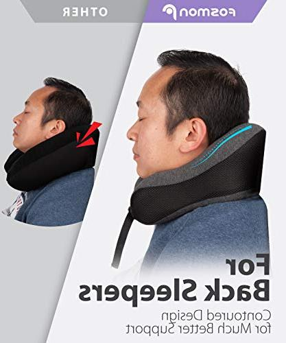 Fosmon Travel Pillow, Soft and Foam Neck & Chin Support Cotton Cover for Bus Train