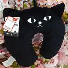 NWT black cat travel neck pillow from Daiso Japan Great for