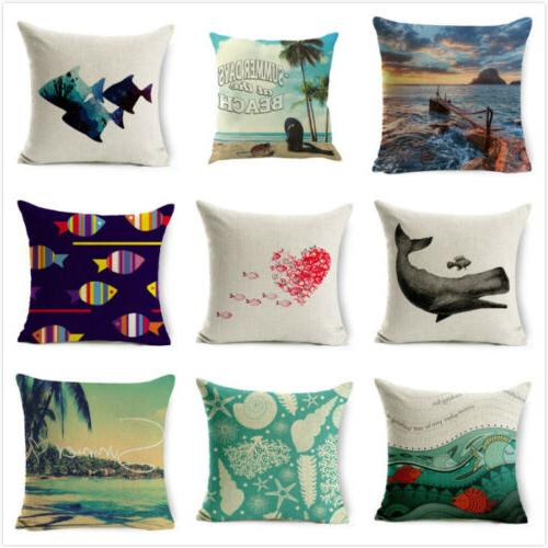 Ocean landscape Quotes Travel Cushion Covers Sofa Bed Waist