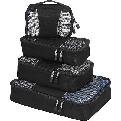 eBags Packing Cubes - 4pc Small/Med Set 5 Colors Travel Orga