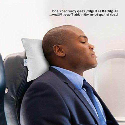 """ComfyDown Pillow - 800 Fill Goose Down Plane, Home - Hypoallergenic - Egyptian Cotton Cover Made 12""""x16"""""""
