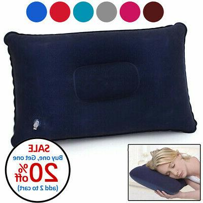 portable inflatable lightweight airplane pillow cushion trav