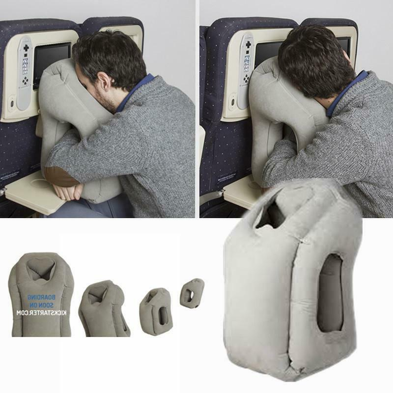 portable inflatable travel pillow airplane cushion office