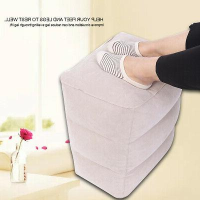 portable pvc travel air inflatable footrest travel