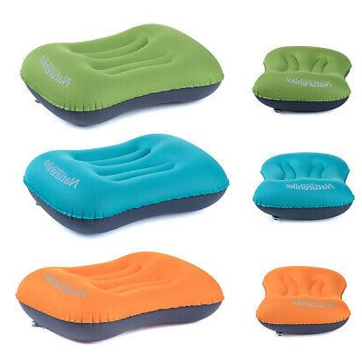 portable travel air pillow inflatable neck camping