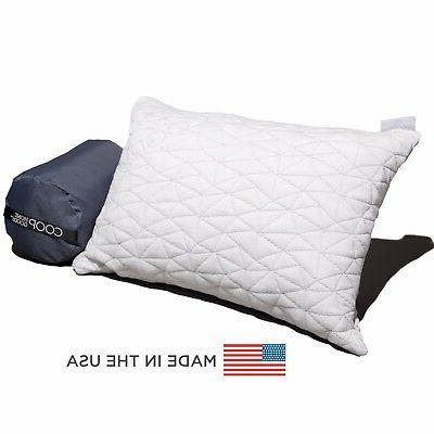 shredded memory foam camping pillow