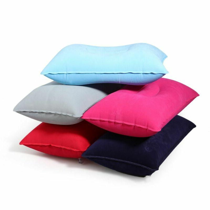 Hotel Portable Flocking Outdoor Travel Air Inflatable Pillow