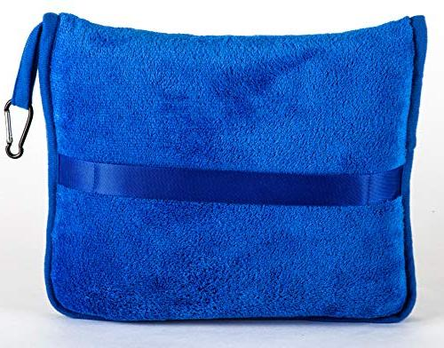 BlueHills Travel Blanket Airplane Packed in Soft Pillowcase Luggage Belt and Backpack Compact Pack for Travel