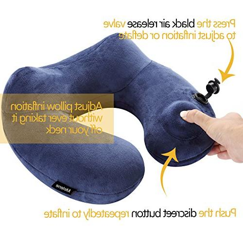 Metene Travel Velvet Inflatable Pillows Cover with Bag