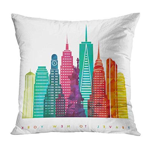 Emvency Pillow NYC New United of America Travel Decorative Case Home Decor 20x20 Pillowcase