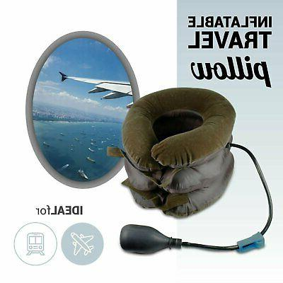 Travel Rest Neck Pillow Support Airplane Cushion U Cervical Inflated