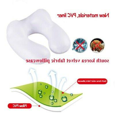 U Inflatable Neck Pillow w/ Travel Packsack Pillow US