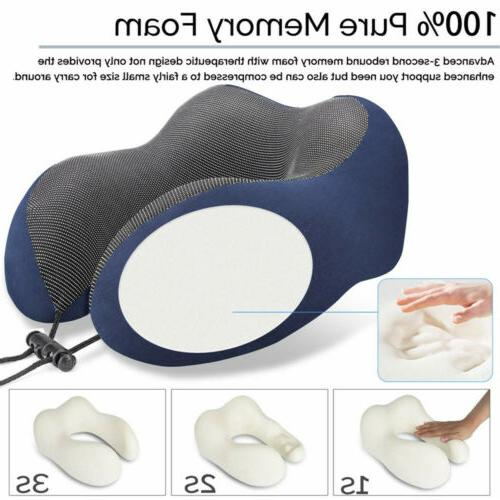 Travel U-shaped Memory Foam Pillow Head US