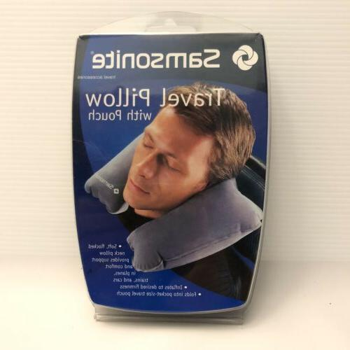 travel pillow with pouch gray sm6210cg new