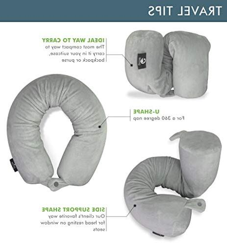 Travel - Support for Lumbar and Leg Adjustable, Cylindrical Pillow Bus, Train or - Soft