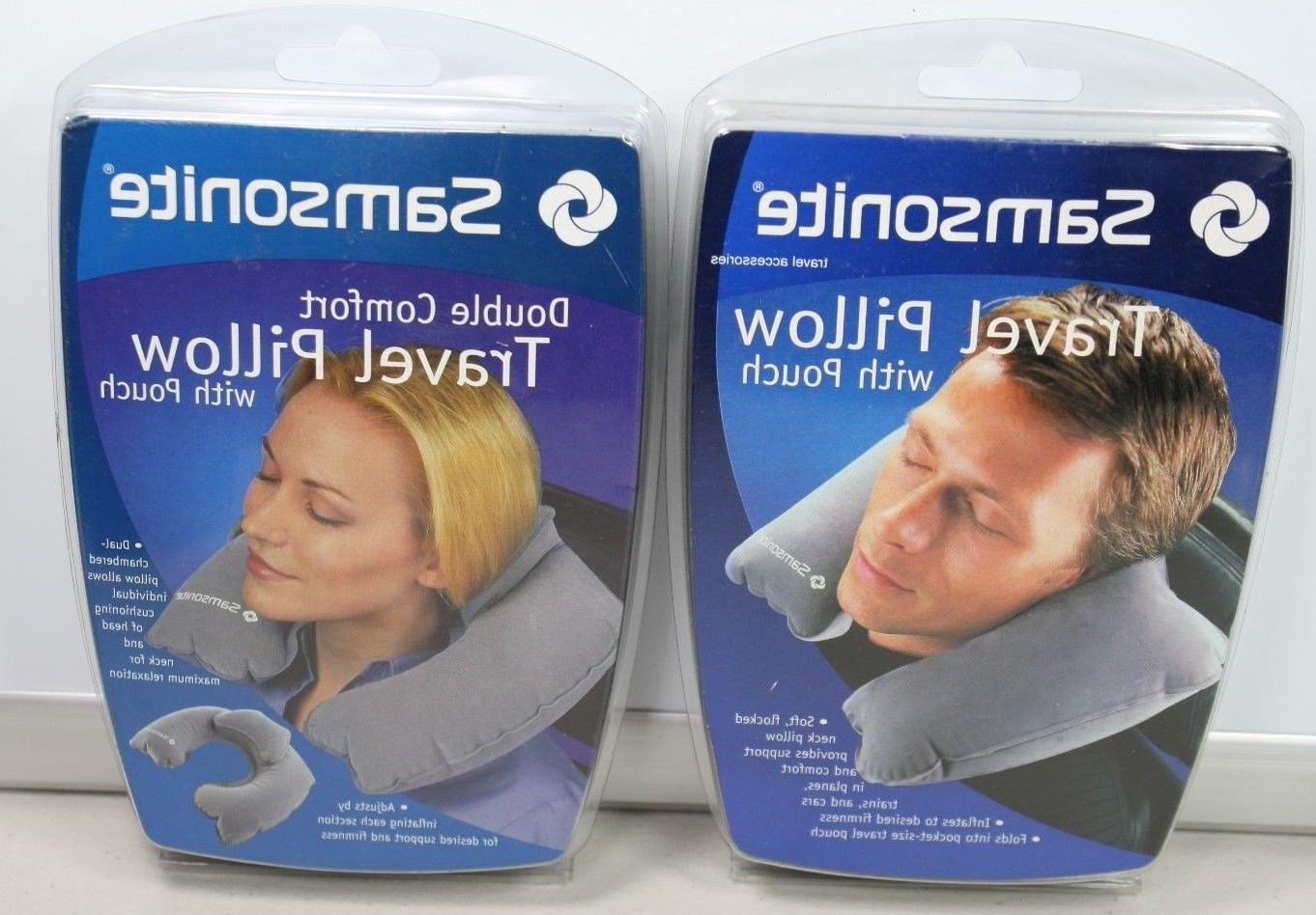two travel pillows