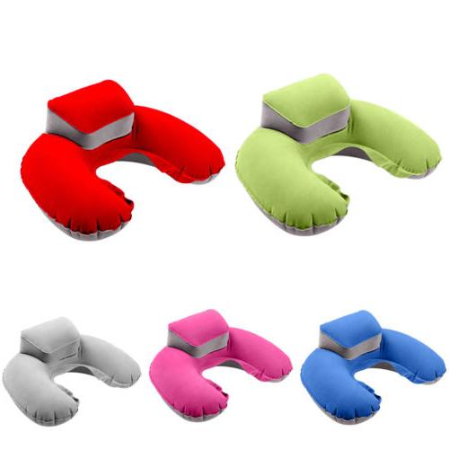 U-shaped Inflatable Pillow Headrest for Travel Car