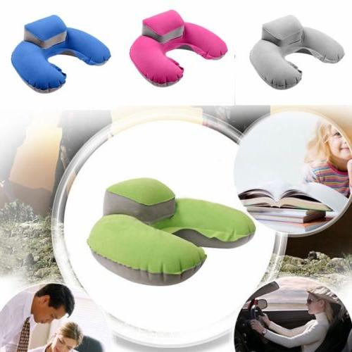 U-shaped Inflatable Pillow Headrest for
