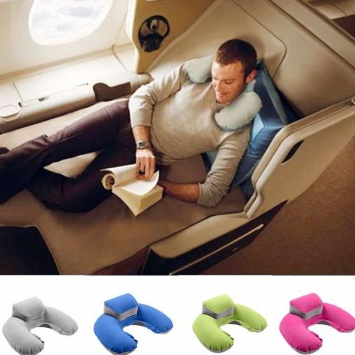 u shaped inflatable neck support pillow nap