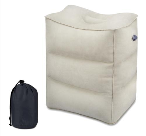 Inflatable Travel Footrest Leg Foot Relax Cushion Pillow Pad