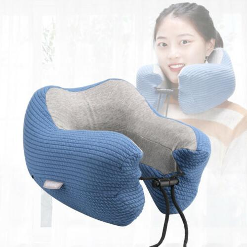 US Foam U Shaped Travel Pillow Neck Support Head Cushion