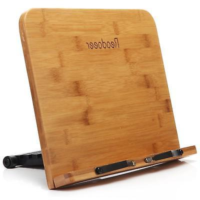 wooden bamboo book holder reading stand reader
