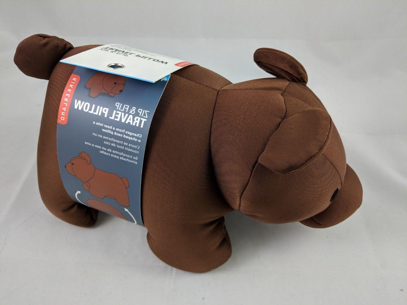 zip and flip cute bear brown travel