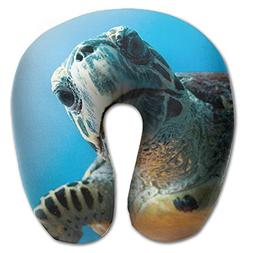 Magazine Sea Turtles U-shaped Travel Pillow Full All Over Pr