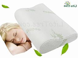 LitoTree Memory Foam Neck Pillow with Removable Washable Sof