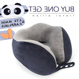 ROUTESUN Memory Foam Travel Pillow, Navy Blue Comfort Neck P