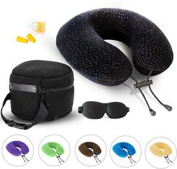 AERIS Memory Foam Travel Pillow for Airplanes - Best Airplan