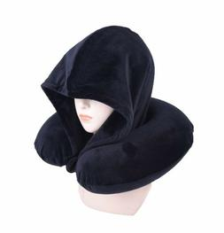 Memory Foam Warm Hoodie U Shape Travel Pillow Neck Super Sof