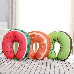 Microbead U Shaped Travel Fruit Neck Pillow for Sleeping / C