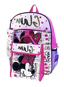 Minnie Mouse Disney Girls 5-Piece Backpack Set