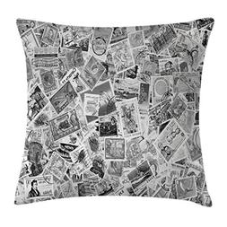 Ambesonne Modern Decor Throw Pillow Cushion Cover, Vintage B