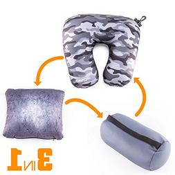Multifunctional Travel Pillow – Customizable and Compact N