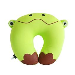 Riverbyland Travel Neck Pillow Cute Frog Pattern U Shaped