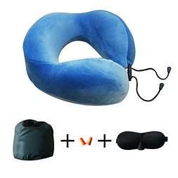 Travel Neck Pillow Memory Foam Head Support Comfortable Wash
