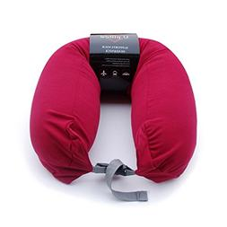 "Riverbyland Travel Neck Pillow 26x5"" Red U Shaped"