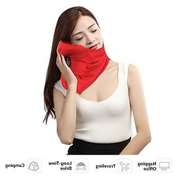 HAOBAIMEI Travel Neck Scarf Pillow - Reduce Neck and Shoulde