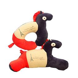 Black Temptation One Set Home Office Neck Pillow Cute Horse