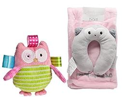 Owl Neck Support with Silky Soft Reversible Baby Swaddling B