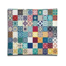 Isjiqnsq Unisex Patchwork Pattern With Different Colorful Ar