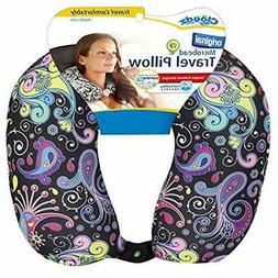 Patterned Microbead Travel Neck Pillows - Black Ground Home