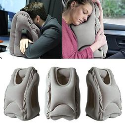Travel Pillow, Portable Head Neck Rest Inflatable Pillow fro