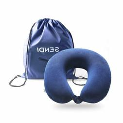 Travel Pillow Memory Foam Neck Car Airplane Comfortable U Sh