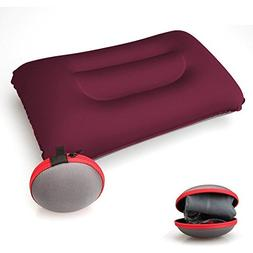 Aukee Portable Inflatable Pillow Square Air Pillow for Trave