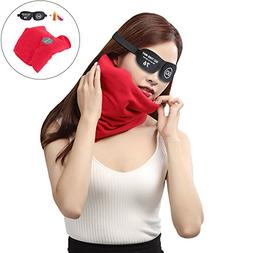 PHNAM Portable Travel Pillow 21cm17cm Lightweight Soft Fleec